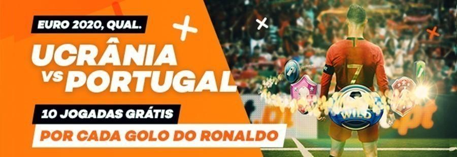 Promoção Bet.pt Ucrânia-Portugal: 10 jogadas grátis