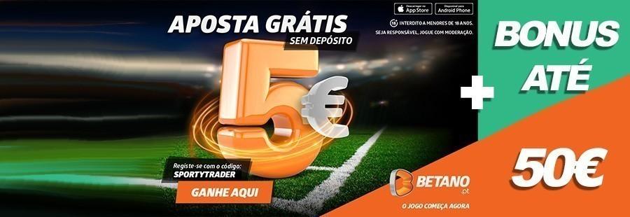 Aposta grátis na Betano até 7 de Junho com código Sportytrader