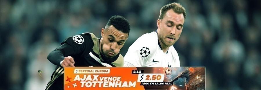 Bet.pt: Especial Europa Ajax vence Tottenham