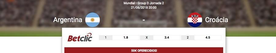 Melhores quotas Argenina-Croácia Copa do Mundo 2018