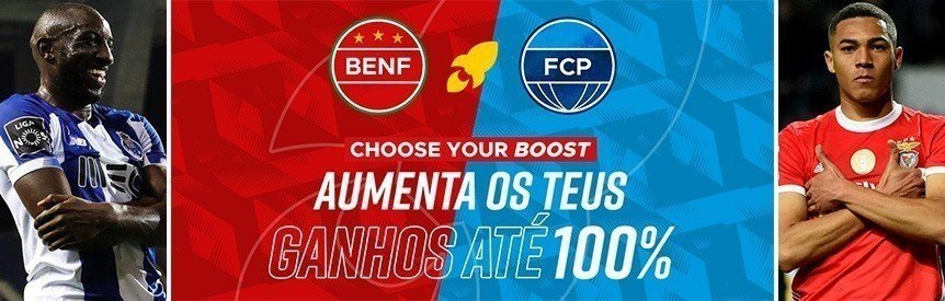 Betclic Choose your boost: ganhos aumentados até 100% no Benfica-Porto final daTaça