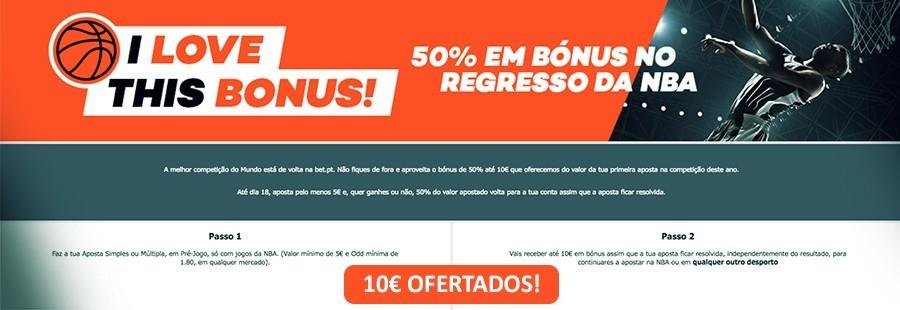 50% em bónus na Bet.pt até 10€!