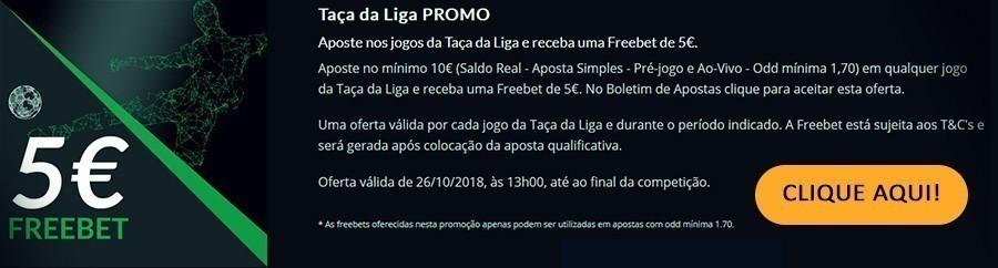 Taça da Liga Promo ESC online – Freebet 5 euros