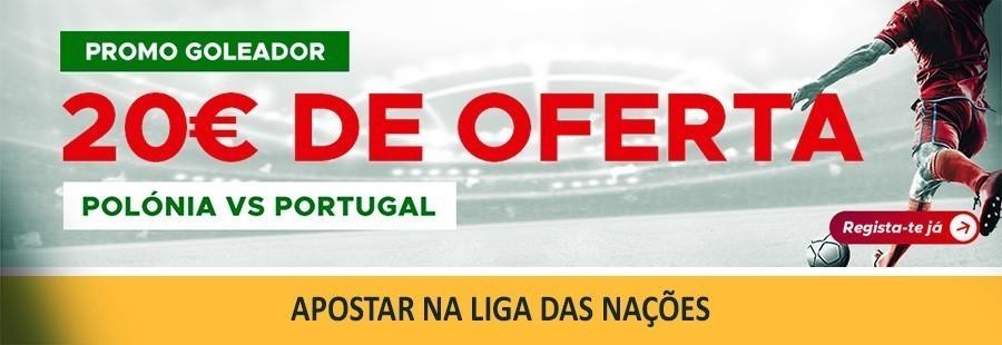 Betclic - Promo goleador: Polónia-Portugal