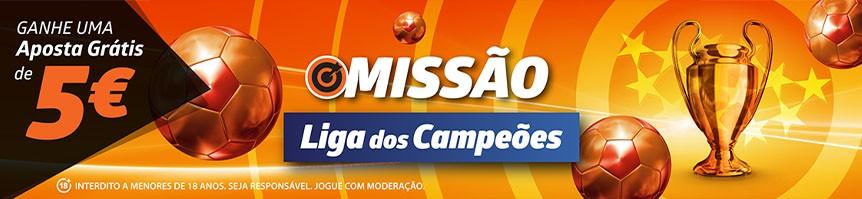 Liga dos Campeões: Missão e Odds melhoradas Betano!