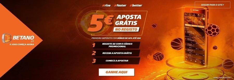 5 euros gratis no registo com a betano