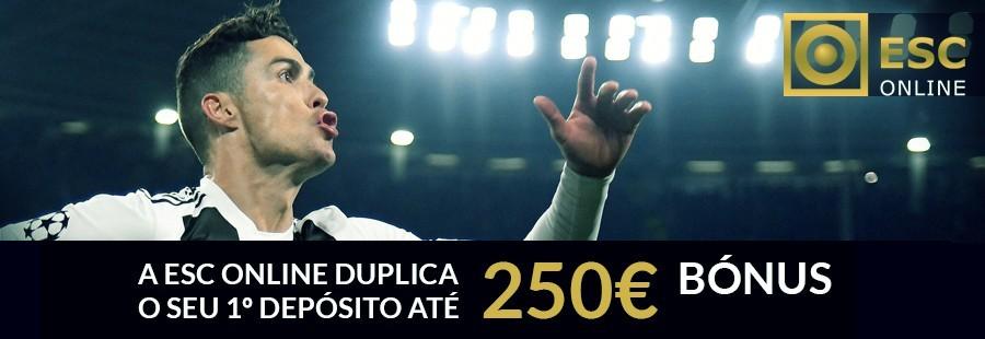 Bónus de boas-vindas ESC Online: 100% até 250€
