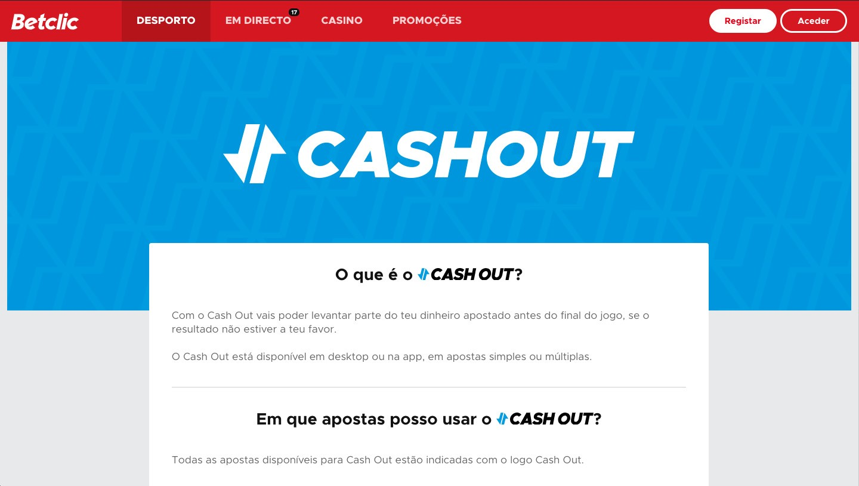 O que é Cashout Betclic?