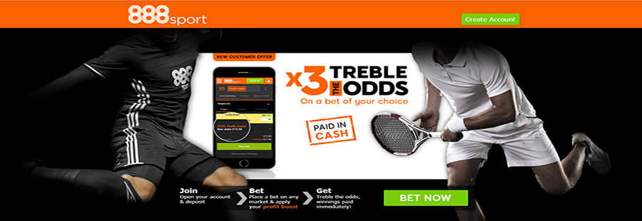 888Sport 'Treble the Odds'