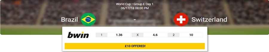 brazil vs switzerland odds