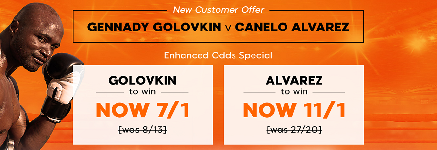 enhanced odds on the golovkin v alvarez fighting