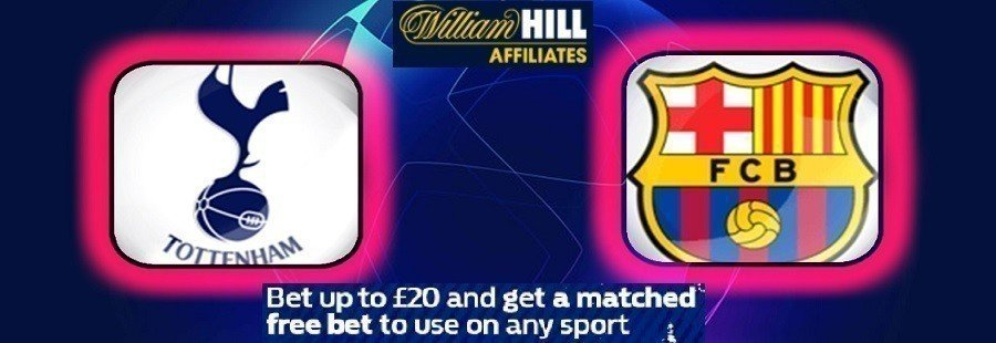 tottenham vs barcelona offer william hill
