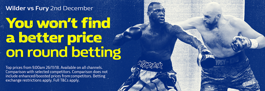 wilder vs fury william hill promotion