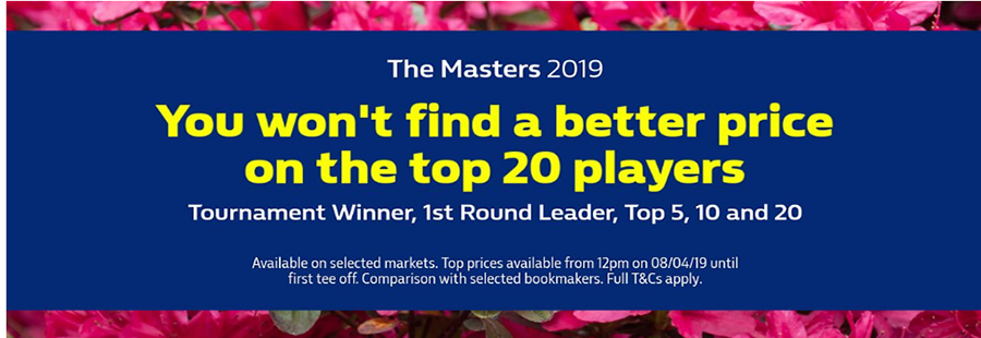 William Hill Masters 2019