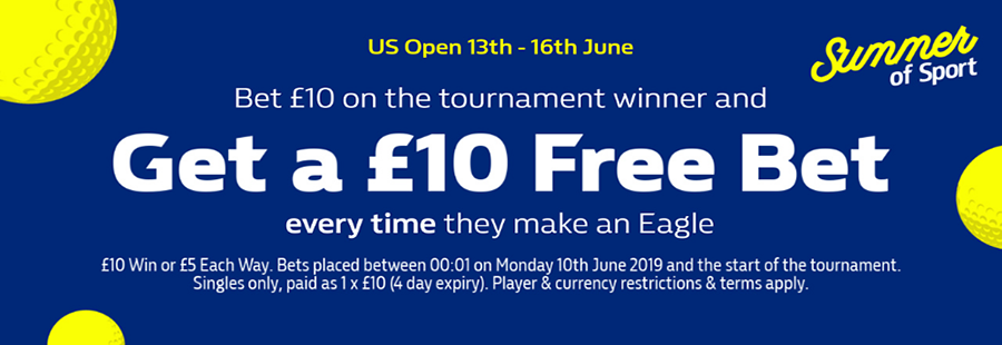 William Hill US Open offer