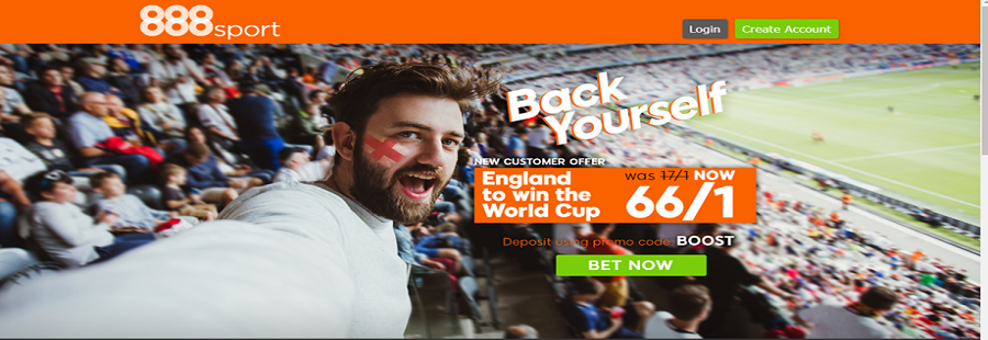 sign up and bet on england with 888sport