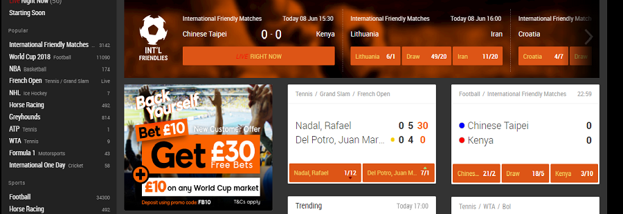 5000/1Markets 888sport World Cup