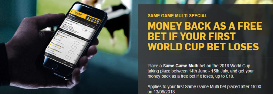 betfair money back promotion