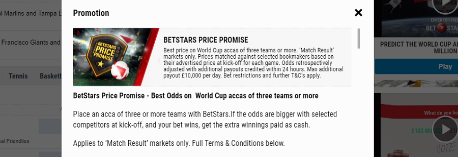 world cup best offs offers at betstars