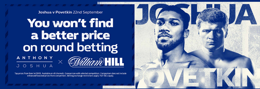 william hill promotion on joshua fighting