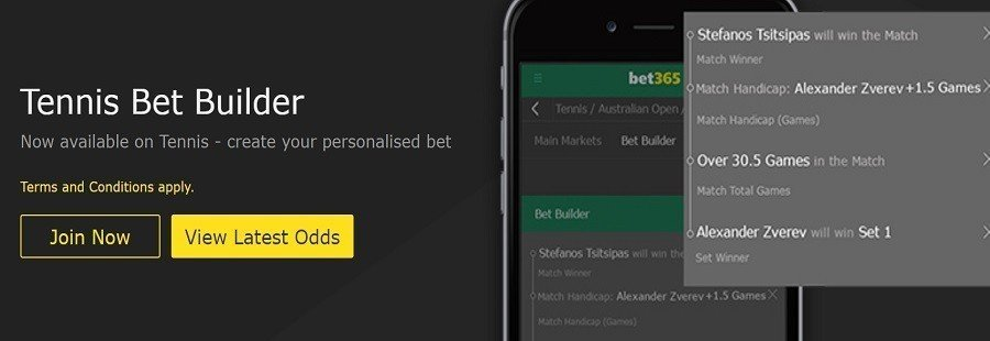 tennis bet builder