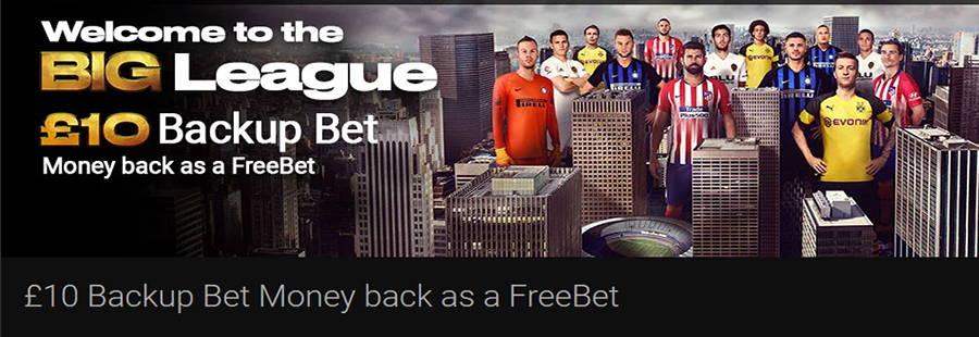 Bwin Backup Bet Welcome Offer