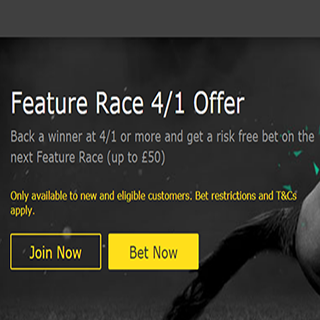 New Bet365 offer on Feature Races